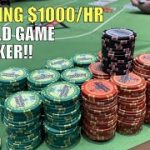 I Win $1000/Hr In Crazy Game Of Poker!! Poker Vlog Ep 148