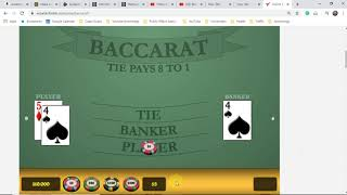 Baccarat Subscribers – Here's a FREE STRATEGY FOR YOU! $5 MINIMUM BETS. $100 WIN DAILY.