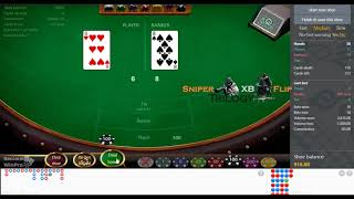 The best system / strategy to win at baccarat using XB flip trilogy !