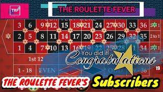Exclusive Roulette Strategy For The Roulette Fever Subscribers || TheRouletteFever