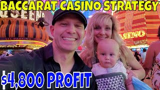 Christopher Mitchell Baccarat Casino Strategy $4,800 Profit At Bellagio Las Vegas.