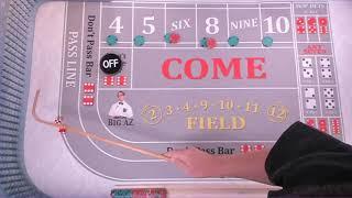 Craps Strategy. The Hit and Run to a Unit ! #LasVegas #Vegas #craps #darkside #Biloxi #POUND