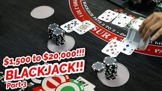 CAN'T BELIEVE IT!! 10X PROFIT BLACKJACK!? Part 3 (Timmy Vs. David)