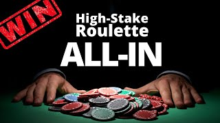 High – Stake Roulette Strategy: The strategy I used to win $ 3000.– (2020)
