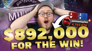 $5,300 DAY 2! MILLIONS MAIN EVENT | PokerStaples Stream Highlights
