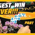 BIGGEST WIN EVER! HIGH LIMIT BLACKJACK | $2500 BUY IN | PART 5