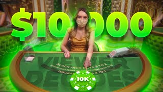 Subscriber SPENDS my $10,000 BLACKJACK HAND!