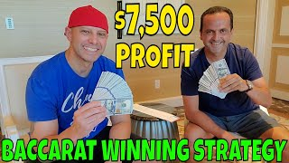 Christopher Mitchell Baccarat Winning Strategy $7,500 Profit At Wynn & Palazzo Casino Las Vegas.