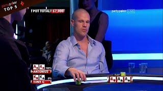Top 5 EPIC Texas Holdem Flops   Poker Legends   NLH   Live Poker   partypoker