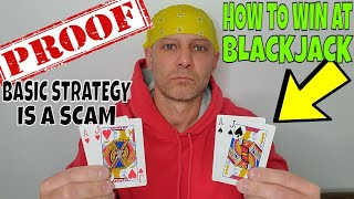 How To Play Blackjack & Win- Blackjack Basic Strategy Is A SCAM- Christopher Mitchell Shows Proof.