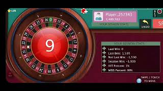 Casino Roulette chasing the winning number 100% winning Roulette Strategy