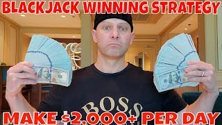 Blackjack Winning Strategy- Christopher Mitchell Shows How To Make $2,000+ Per Day.