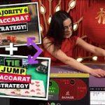 Majority 6 + Tie Jump Baccarat Strategy on STAKE Bitcoin Casino!