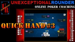 Quick Hand: 6-Max No-Limit Online Poker Strategy Lesson $25NL Bovada Cash Hand #3