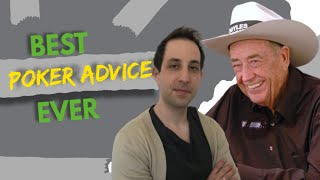What Doyle Brunson taught me: Best poker advice ever | Ask Alec: Poker advice from pros