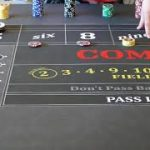 Awesome craps strategy:  Even higher limit table