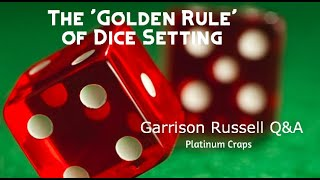 Dice Setting, Place Betting & Positive Energy! Garrison Russell Q&A, Platinum Craps
