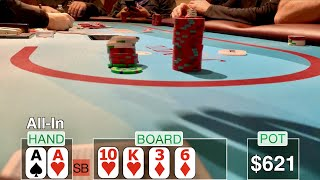 HANGING ON FOR DEAR LIFE! // Texas Holdem Poker Vlog 24