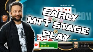 EARLY STAGE STRATEGY 6-Max Poker Tournament with Daniel Negreanu