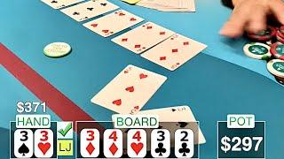 QUADS x 2! BACK TO BACK!?! // Texas Holdem Poker Vlog 20