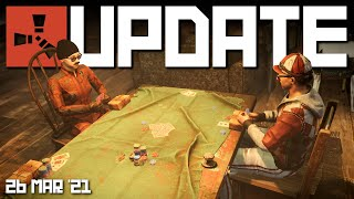 Texas Hold 'em & Gesture wheel on staging | Rust update 26th March 2021