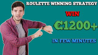 Roulette strategy to win No 4
