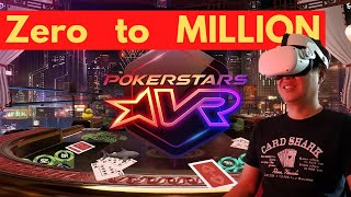 Tips to get to a million at Pokerstars VR without playing Poker and play only slots and Blackjack