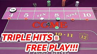 """FREE PLAY IN THREE HITS! """"Triple Lux"""" Craps System Review"""