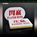 Texas Hold'em Plaque Combo Set Acrylic BANKER and PLAYER Poker Button Baccarat Button Set