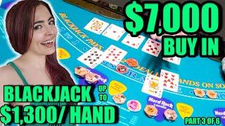 My BEST Blackjack WIN Ever! $7,000 Buy In! Up to $1,300/HAND!