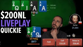 $200 No-Limit Poker – Quickie Low-Stakes Liveplay Session