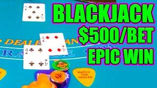 $500/HAND on Blackjack & This Happened! #Shorts