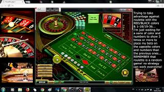 """How to win roulette with """"Red and Black"""" & """"1 to 18 and 19 to 36"""" strategy."""