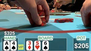CRACKING ACES MAKES SAD FACES // Texas Holdem Poker Vlog 16