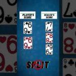 Blackjack TIP- Should you split pair of 6 against dealer 7? Learn blackjack tips. #shorts #blackjack