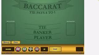 Baccarat Strategy Bonus Video