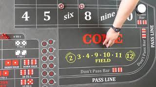 Good craps strategy?  22 inside press
