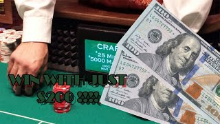 CRAPS $200 Betting Strategy   KING DICE Demonstrating Multiple Strategies (Finding the Best One)