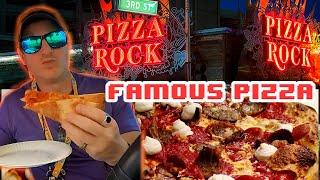 BEST PIZZA IN LAS VEGAS?! Pizza Rock Food Review – D&D Adventure #3