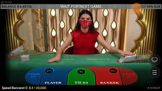 BACCARAT 356: The Baccologist gets nervous when  the dealer starts pushing the button