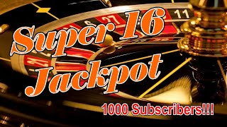 SUPER 16 JACKPOT SYSTEM   1000+ SUBSCRIBERS – Roulette Strategy Review