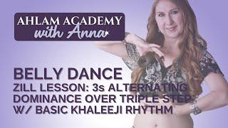 "Belly Dance Zill Lesson: 3s Alternating Dominance Over ""Limping"" Triple Step w/ Khaleeji Rhythm"