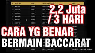 Tonton ini Sebelum Bermain Baccarat Casino | Trik & Tips Bermain Baccarat Agar Menang Berkali kali