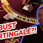 CAN YOU MARTINGALE 313 NO BUST!? – Blackjack Strategy Review