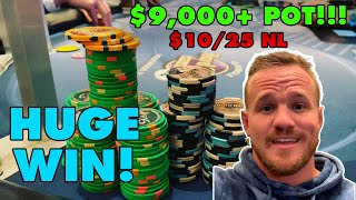 Playing $10/25 and ALL IN for the BIGGEST pot of my life!! // Poker Vlog #24