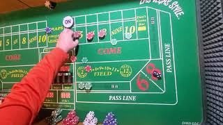 Craps strategy! Using 6,7,8 Plus COME BETS to allow you to play for FREE!