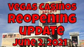 Vegas Casinos Reopening Update – June 2, 2021