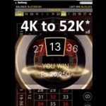 Betway Live Roulette. 4K to 52K Huge win in 10Mins with Lightening Roulette