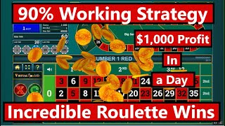 Roulette Strategy: How to make $1,000 a day on Roulette