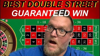 BEST ROULETTE STRATEGY EVER FOR DOUBLE STREETS | GUARANTEED 100%